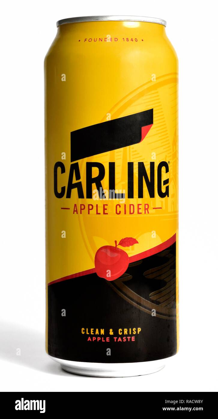Single can of Carling Apple cider 500ml - Stock Image