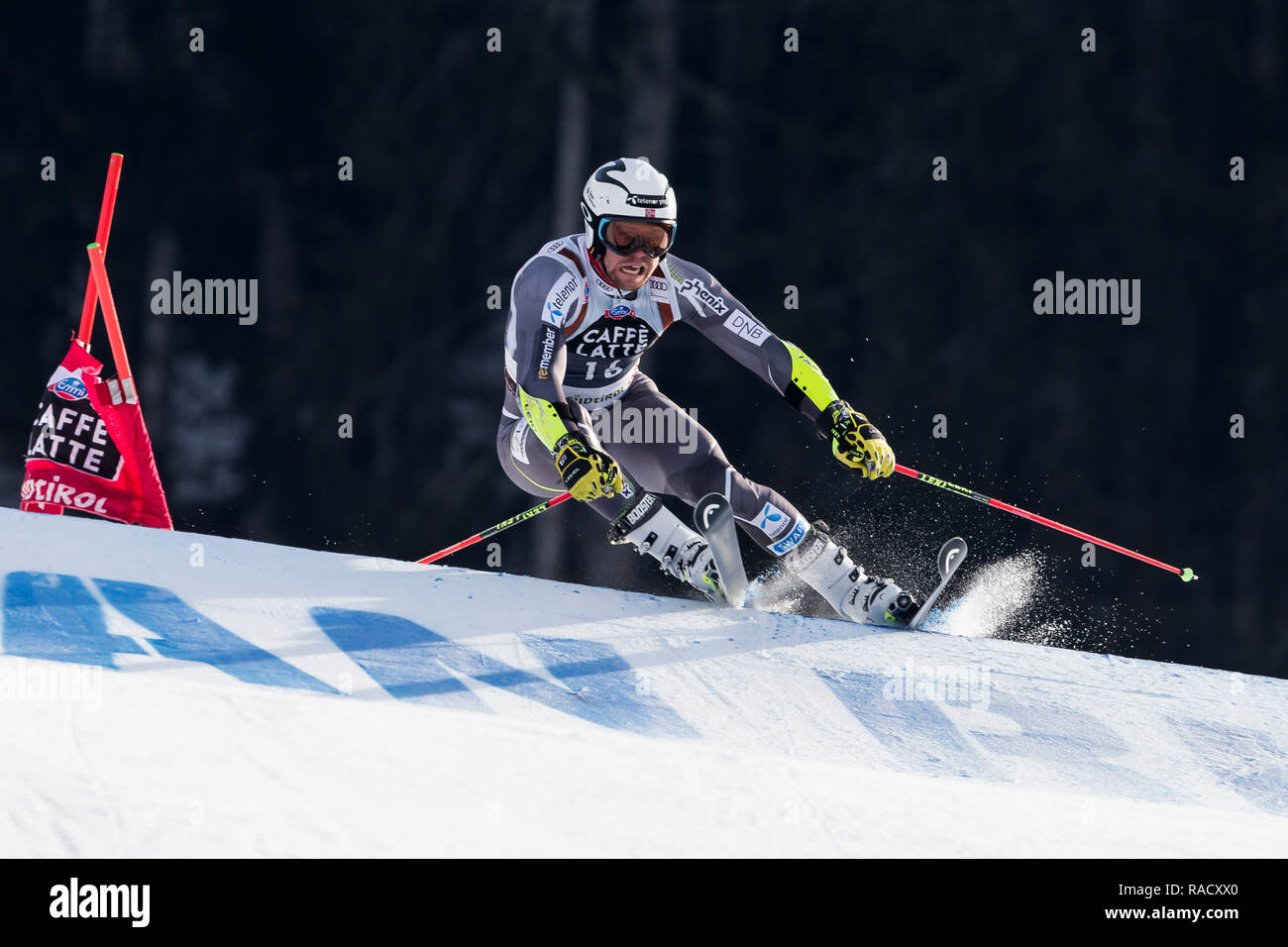 Alta Badia, Italy 16 December 2018.  KILDE Aleksander Aamodt (Nor) competing in the Audi Fis Alpine Skiing World Cup Men's Giant Slalom Stock Photo