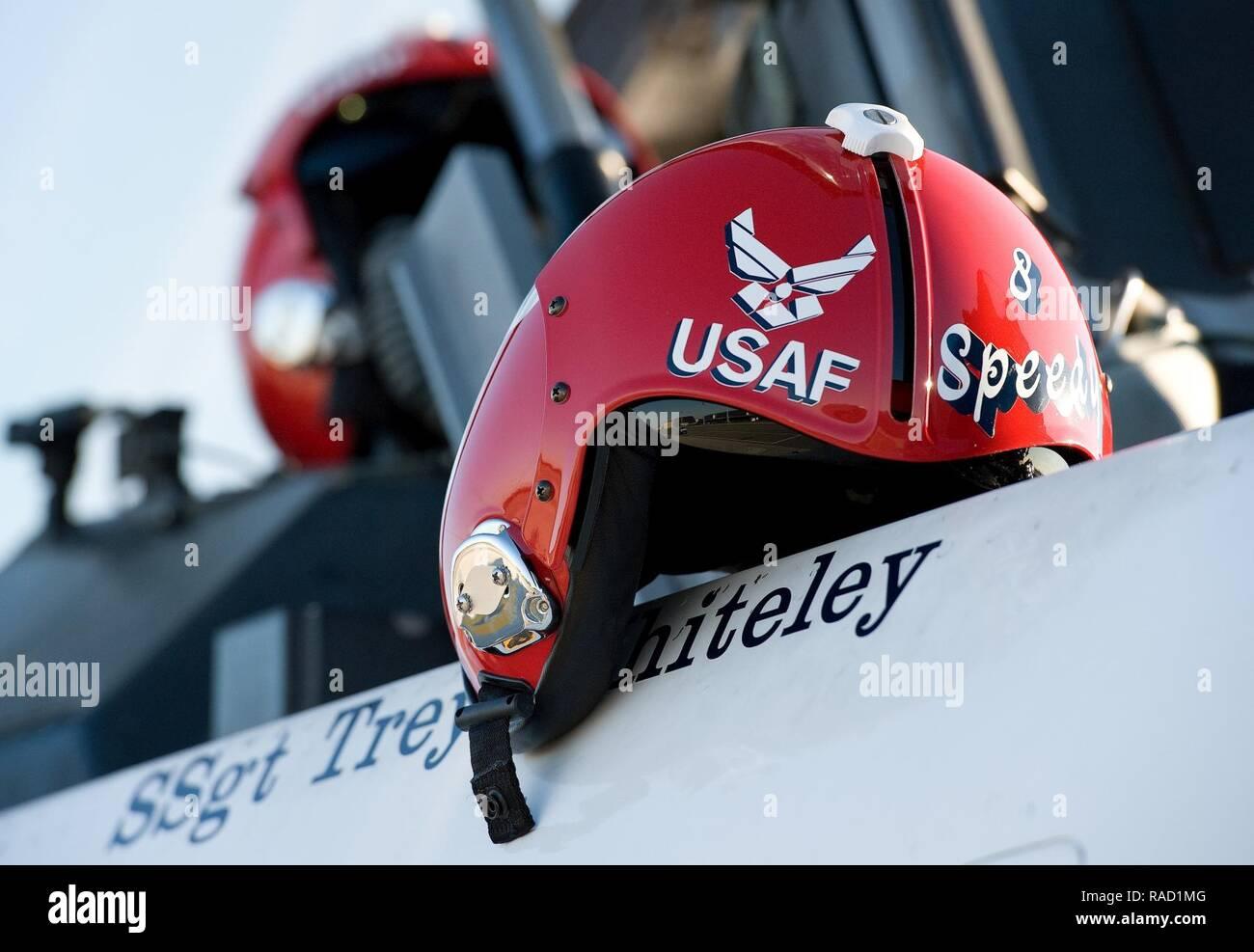 "The helmet of Capt  Erik ""Speedy"" Gonsalves, U S  Air Force"