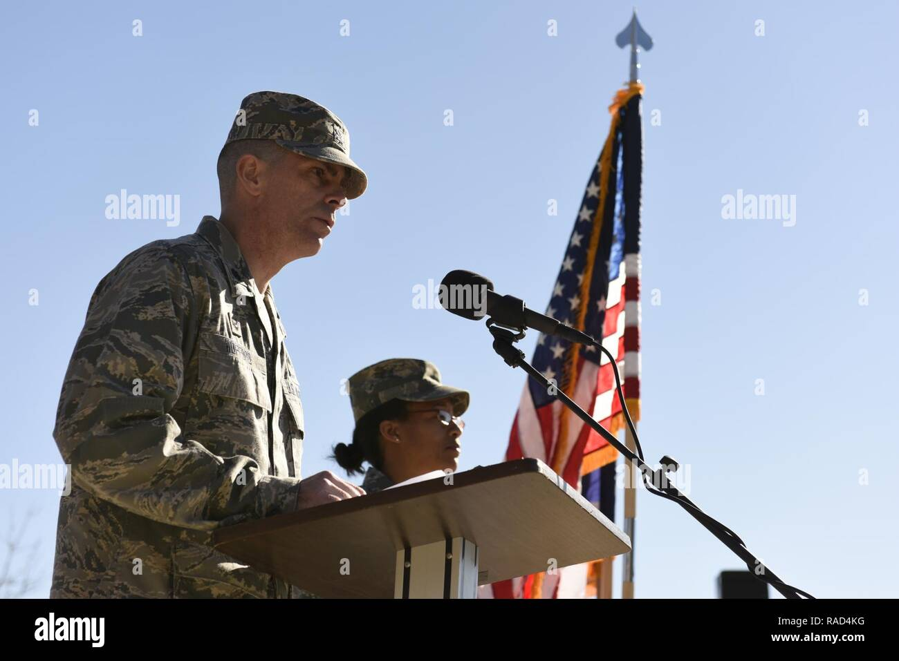 U S  Air Force Lt  Col  Gerald Wofford (center), commander