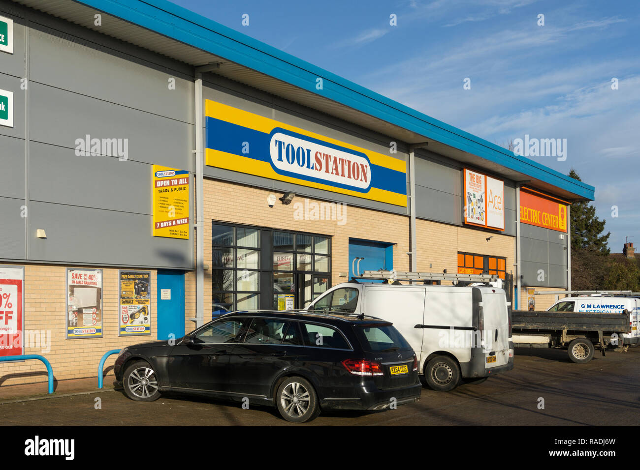 Toolstation, a retail chain selling tools and hardware products, Northampton, UK; subsidiary of Travis Perkins. - Stock Image