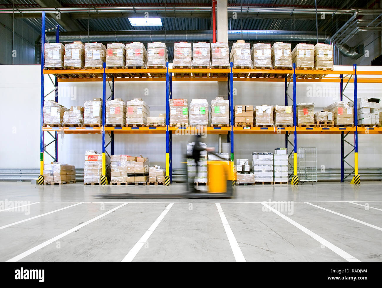 Lidl's logistics center - Stock Image