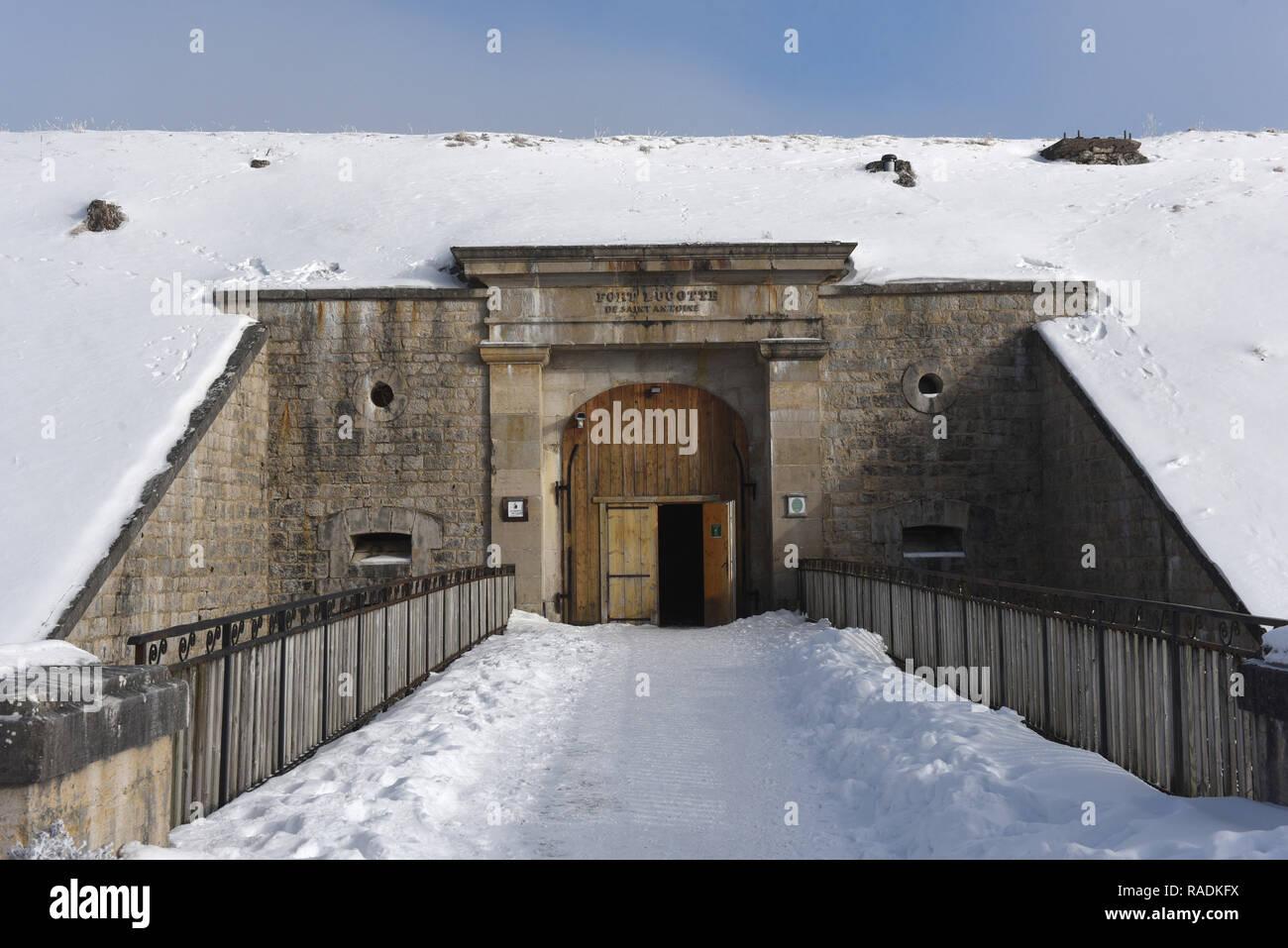 The 'Petite du Fort Saint-Antoine' maturing cellars (eastern France) *** Local Caption *** - Stock Image