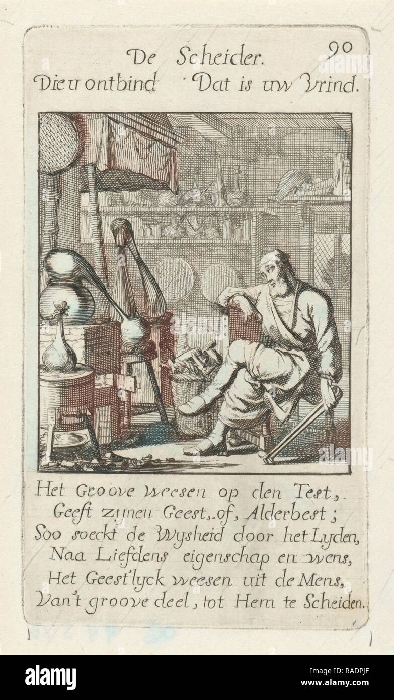 Alchemist, Jan Luyken, 169. Reimagined by Gibon. Classic art with a modern twist reimagined - Stock Image
