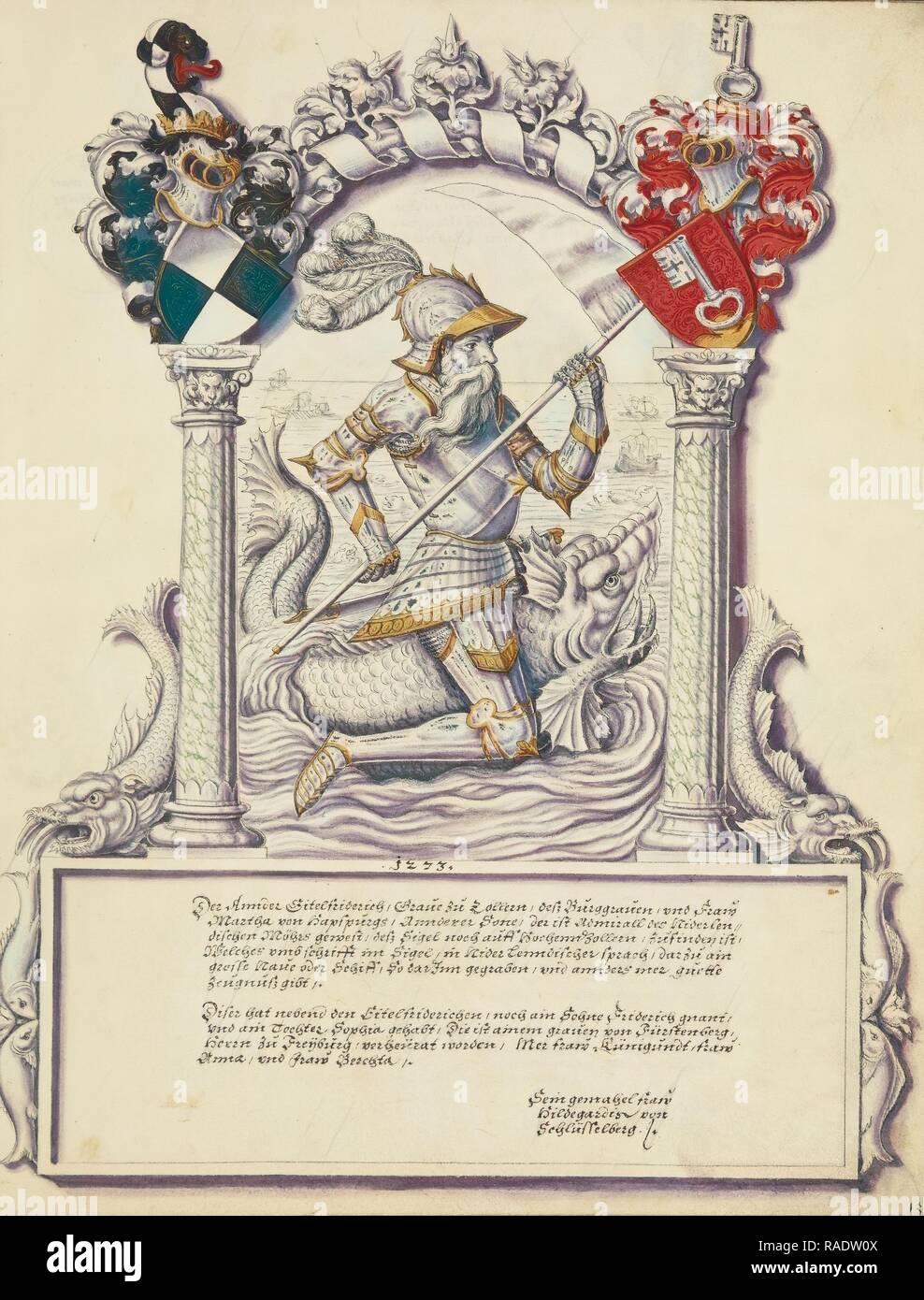 Eitelfriedrich II Hohenzollern, Jörg Ziegler (German, early 16th century - 1574,1577), Rottenburg, Germany, about reimagined - Stock Image