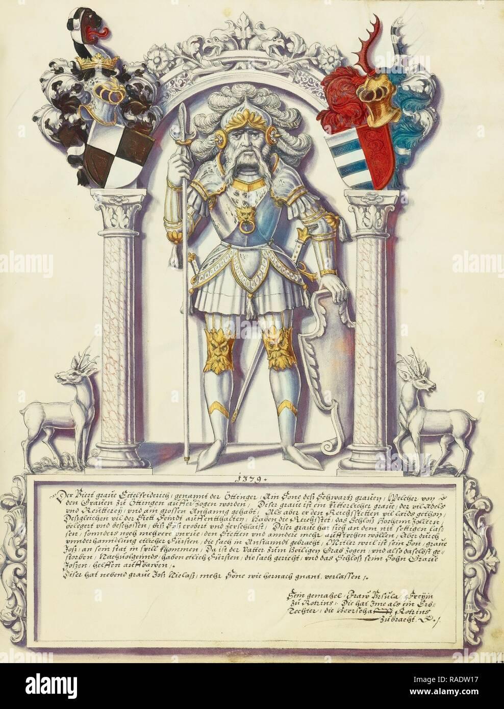 Eitelfriedrich IV Hohenzollern, Jörg Ziegler (German, early 16th century - 1574,1577), Rottenburg, Germany, about reimagined - Stock Image