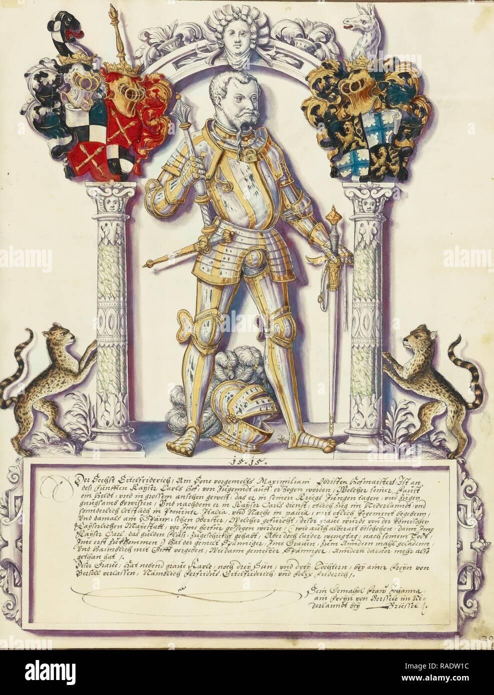 Eitelfriedrich VI Hohenzollern, Jörg Ziegler (German, early 16th century - 1574,1577), Rottenburg, Germany, about reimagined - Stock Image