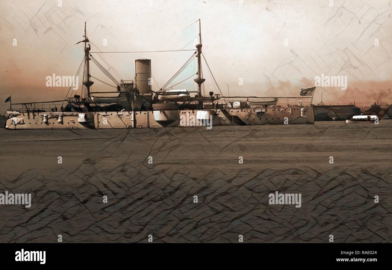 U.S. battleship, Battleships, American, 190. Reimagined by Gibon. Classic art with a modern twist reimagined - Stock Image
