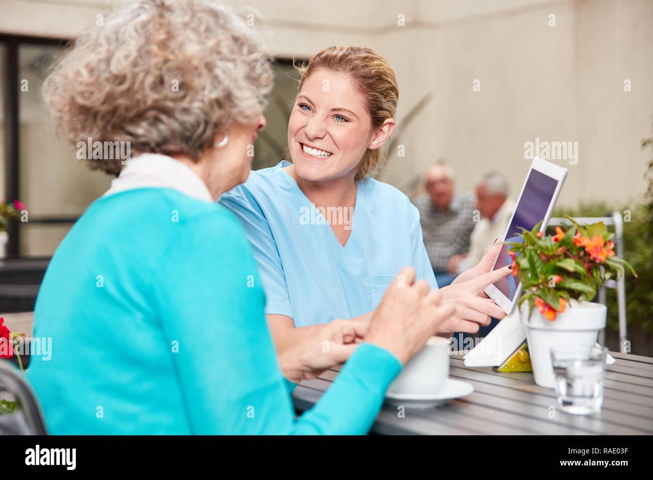 Nursing Home Senior Lounge Stock Photos & Nursing Home