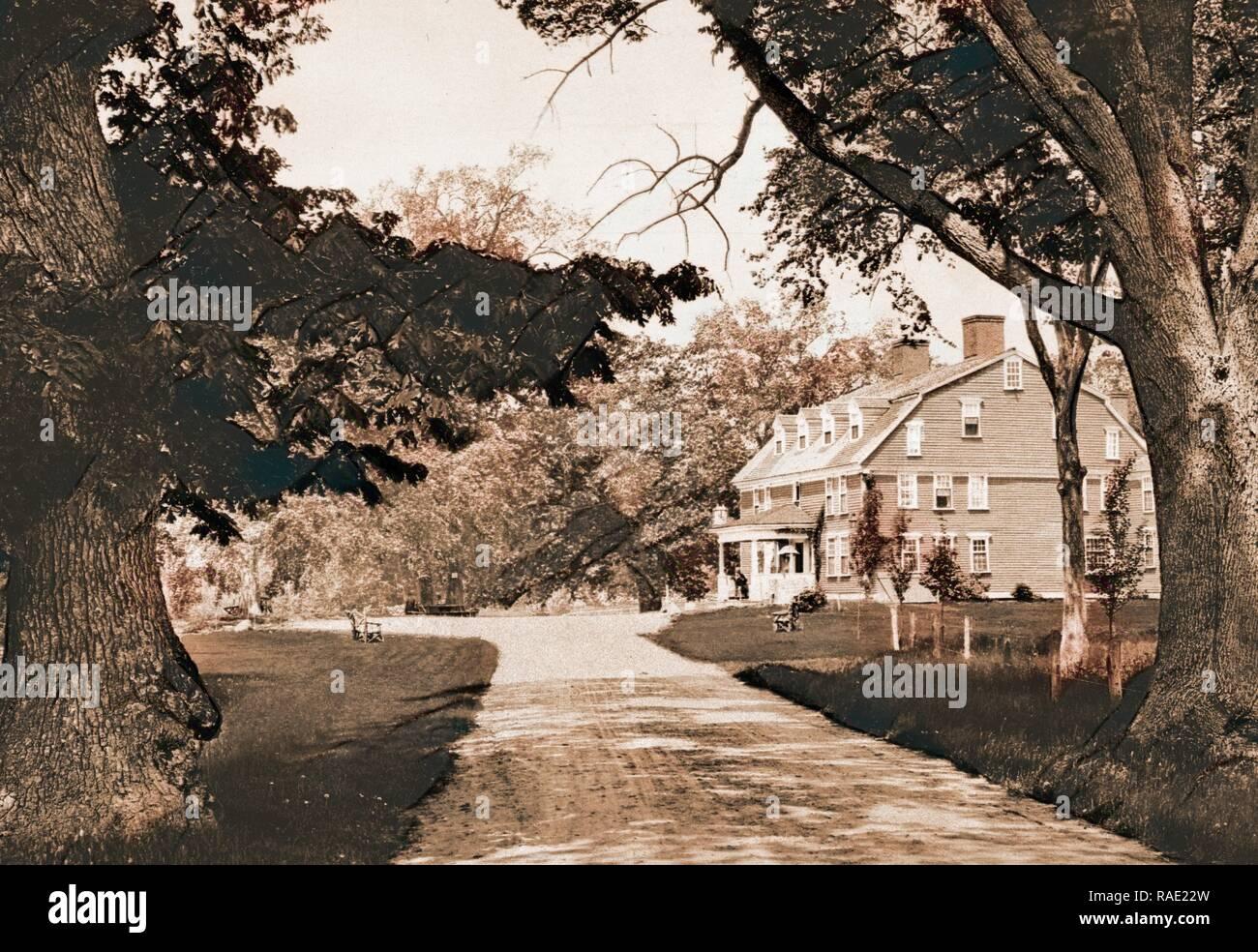 The Wayside Inn, Sudbury, Massachusetts, taverns (inns), United States, Massachusetts, Sudbury, 190. Reimagined - Stock Image