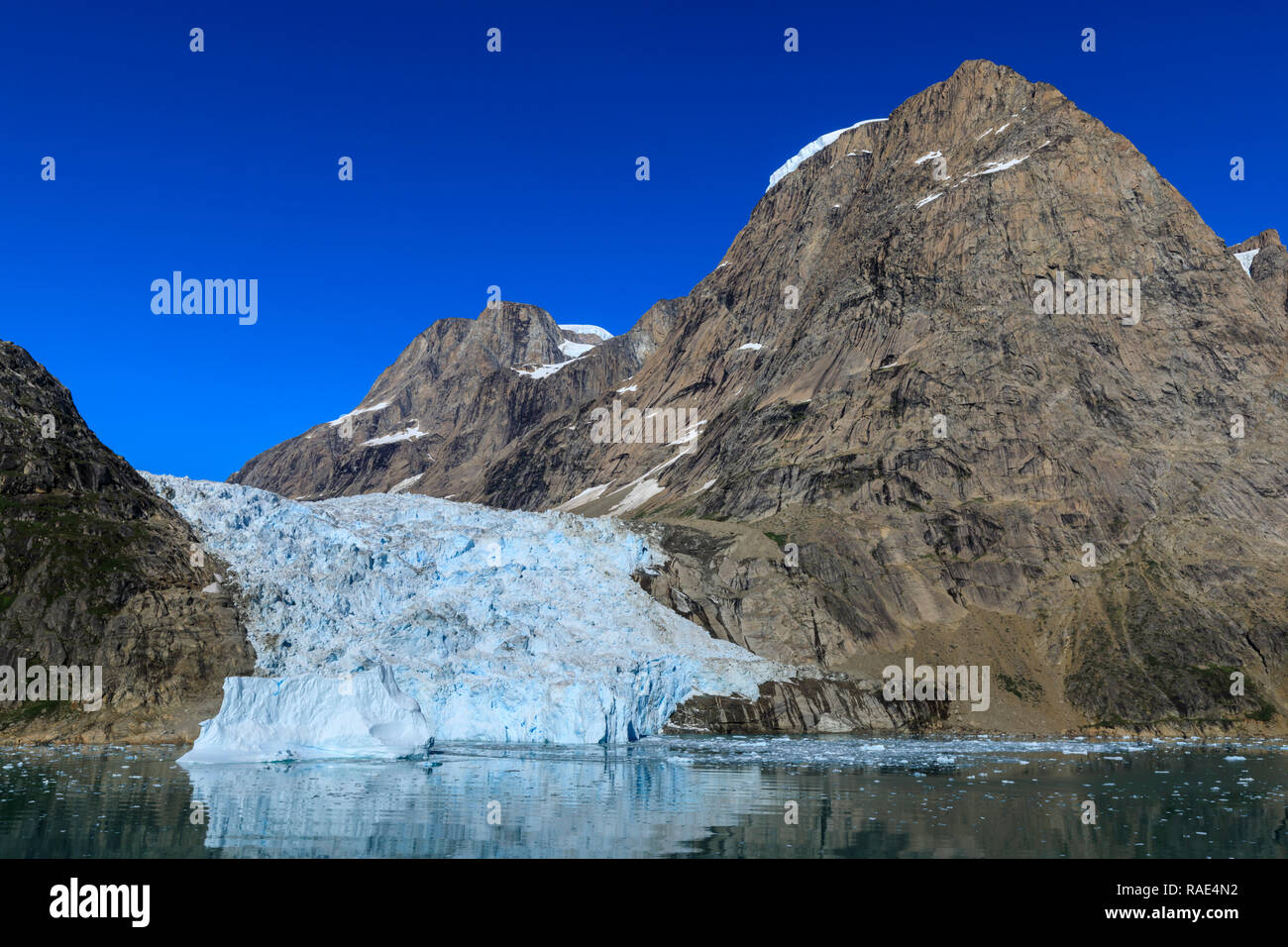 Tidewater glacier, South Skjoldungen Fjord, glorious weather, remote