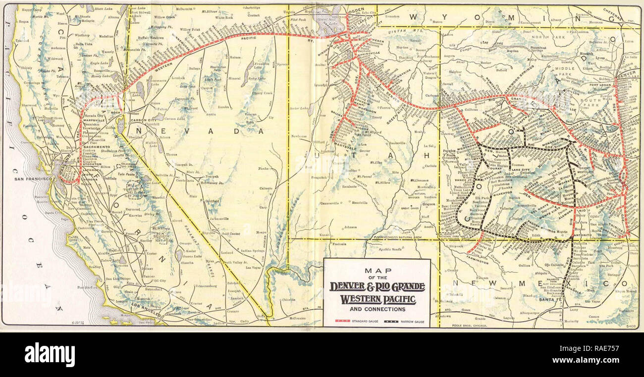 denver and rio grande western railroad map Map Of The Denver And Rio Grande Western Railroad And Western denver and rio grande western railroad map