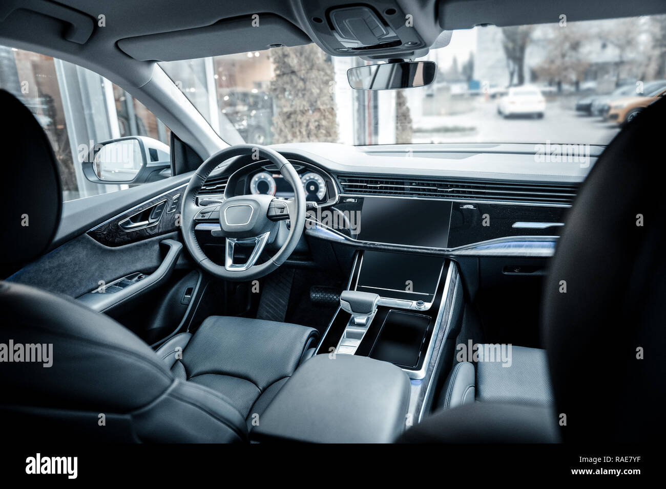Nice spacious car with leather interior and automatic transmission - Stock Image
