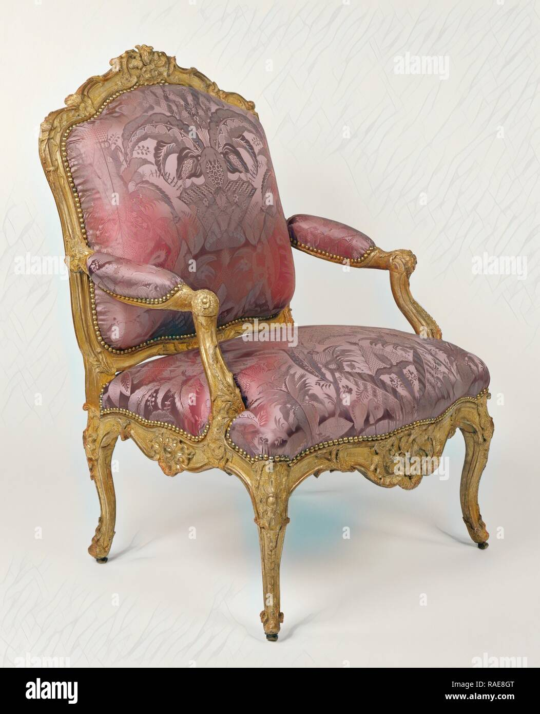 8346a7eed5e8e Armchair, Paris, France, about 1730 - 1735, Gessoed and gilded beech,