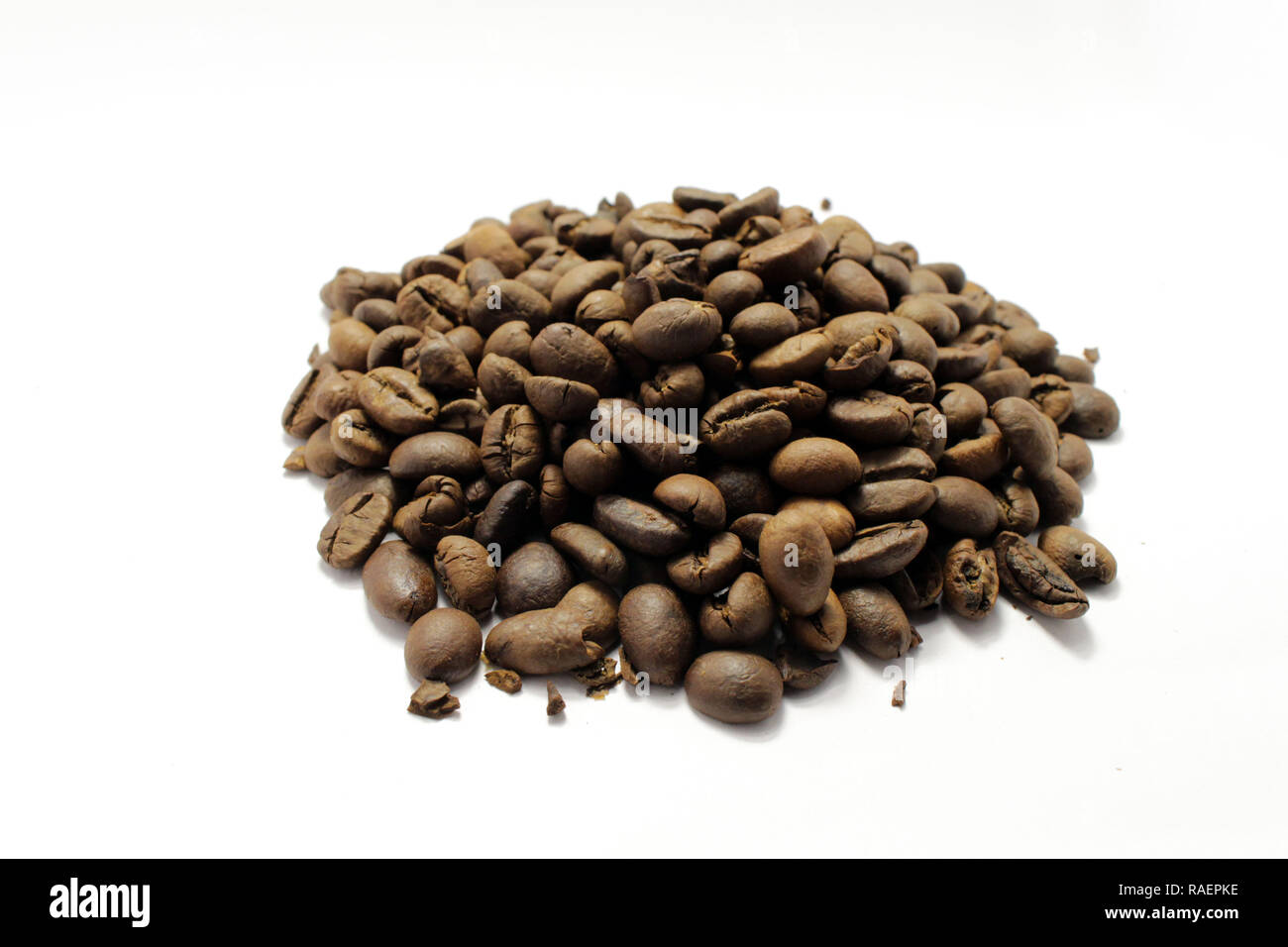 Indonesian roasted coffee beans, your source for a cup of coffee. Fresh! - Stock Image