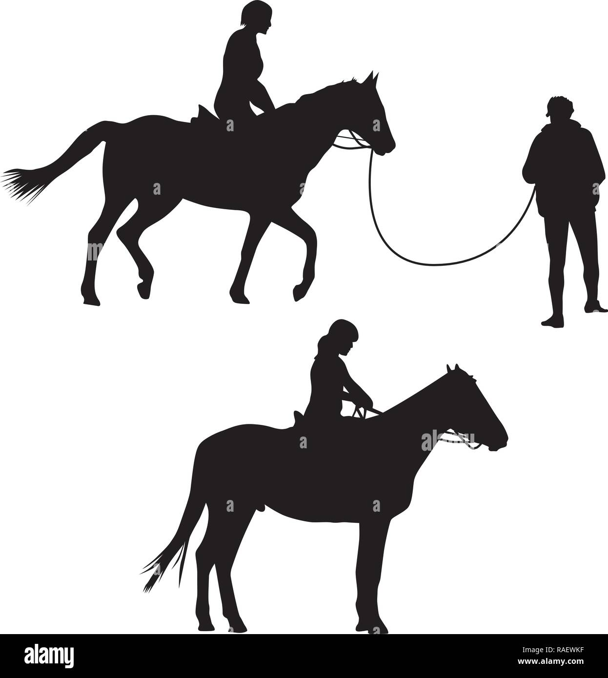 Woman On The Horse Riding Silhouette Vector Stock Vector Image Art Alamy