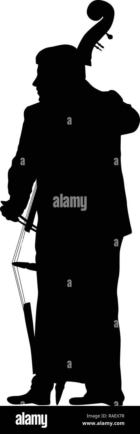 man play contrabass - Stock Image