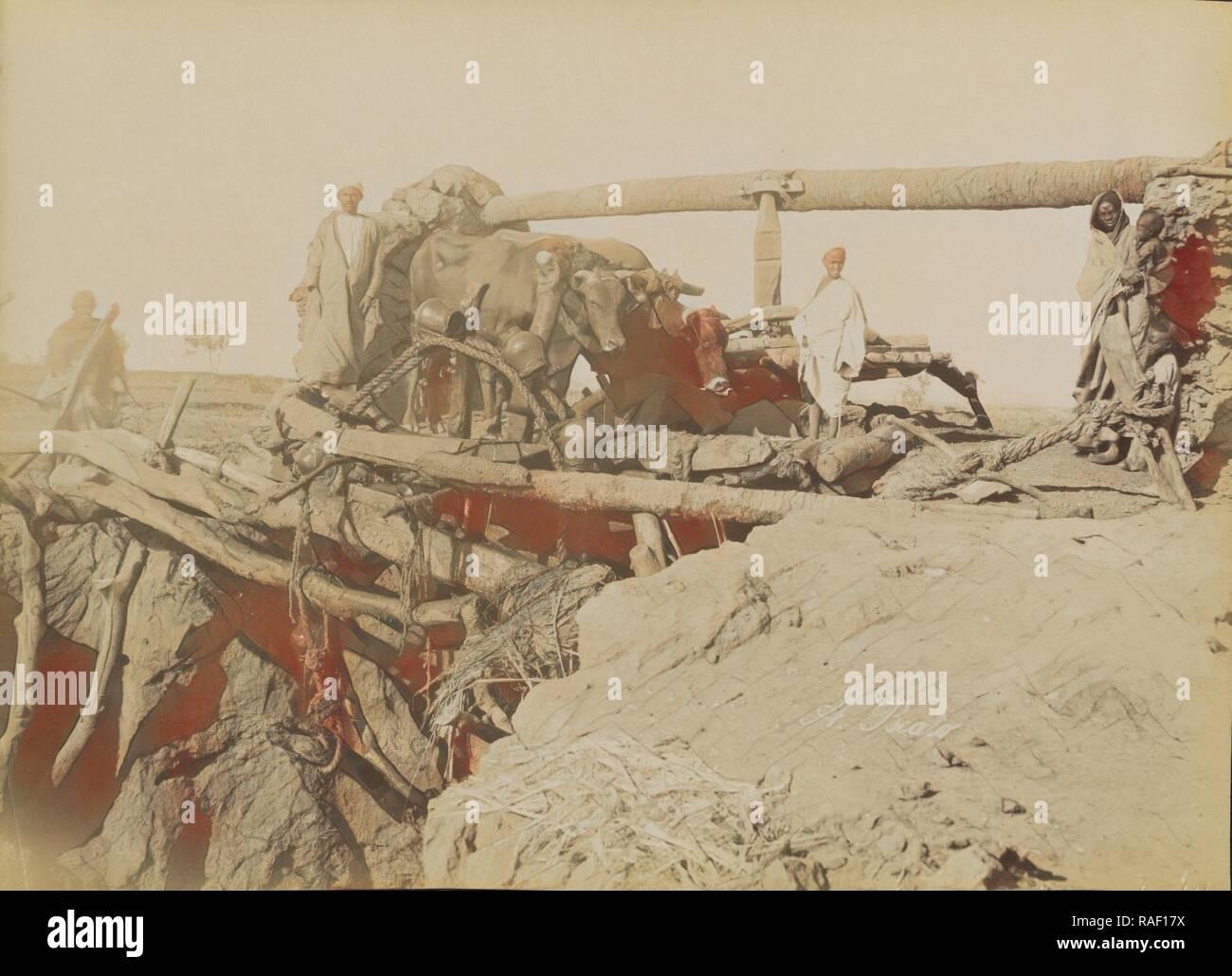 Sakkie, Antonio Beato (English, born Italy, about 1835 - 1906), 1880 - 1889, Albumen silver print. Reimagined - Stock Image