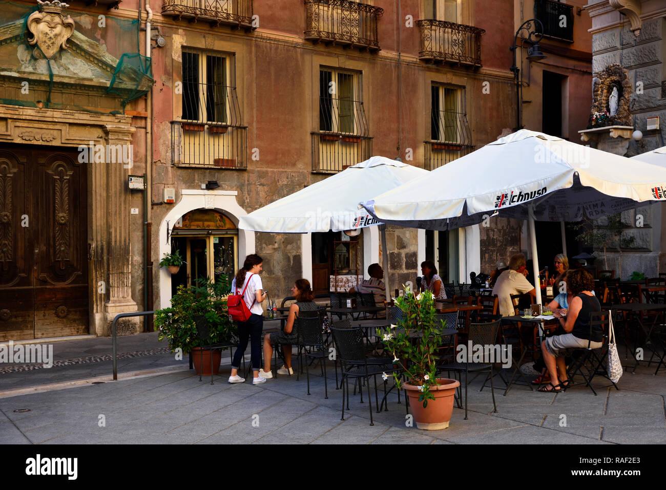 Old town Cagliari Sardinia Italy - Stock Image