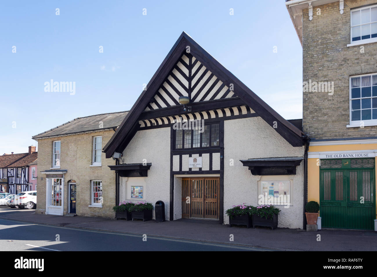 Clare Town Hall, Market Hill, Clare, Suffolk, England, United Kingdom - Stock Image