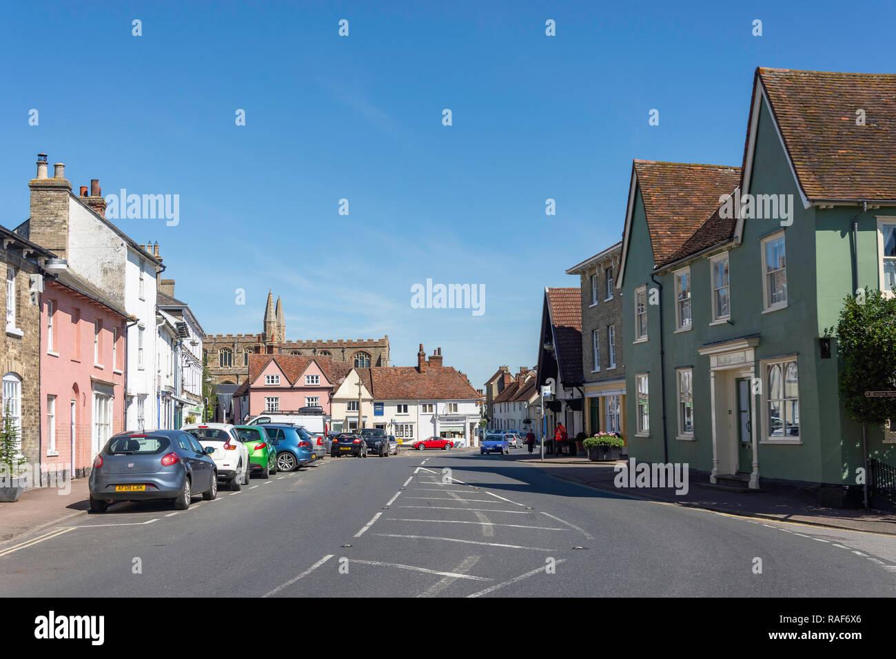Market Hill, Clare, Suffolk, England, United Kingdom - Stock Image