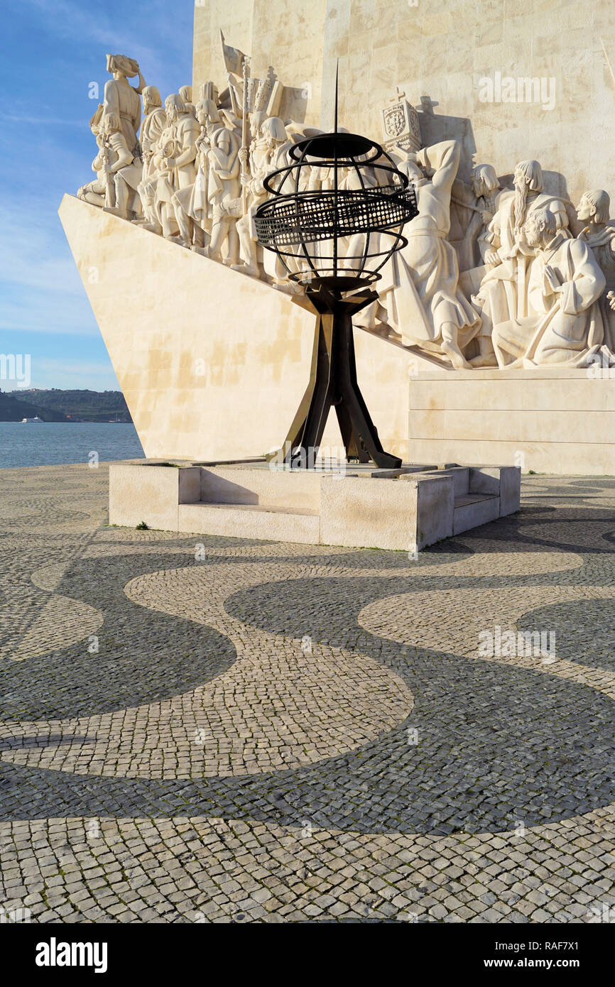 Monument to Discoveries, Lisbon, Portugal - Stock Image