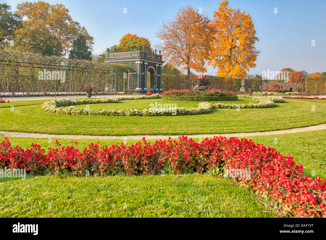 Schonbrunn Palace in Vienna, Austria - Stock Image