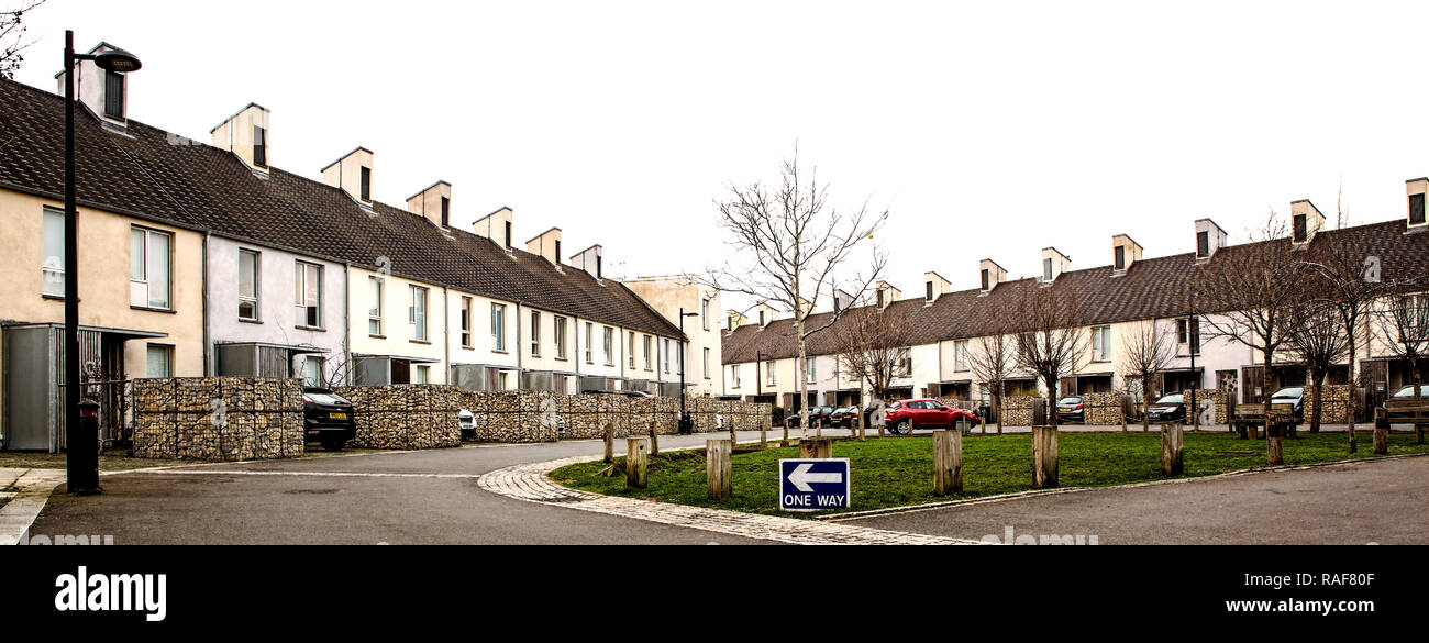 The Triangle housing project in Swindon which was highly commended in the 2012 Civic Trust Awards Stock Photo