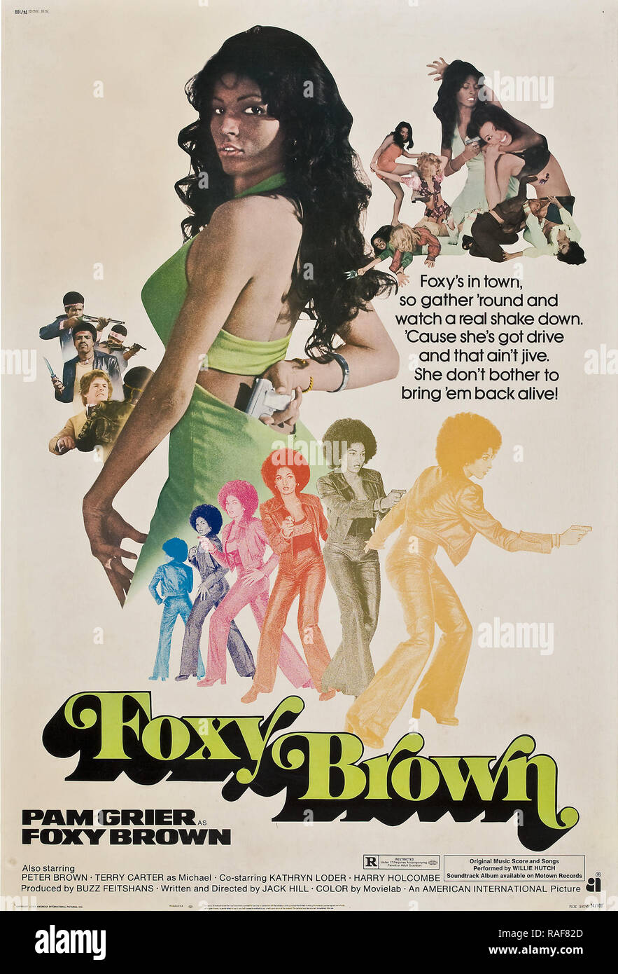 Foxy Brown (American International, 1974), Poster  Pam Grier  File Reference # 33636_814THA - Stock Image