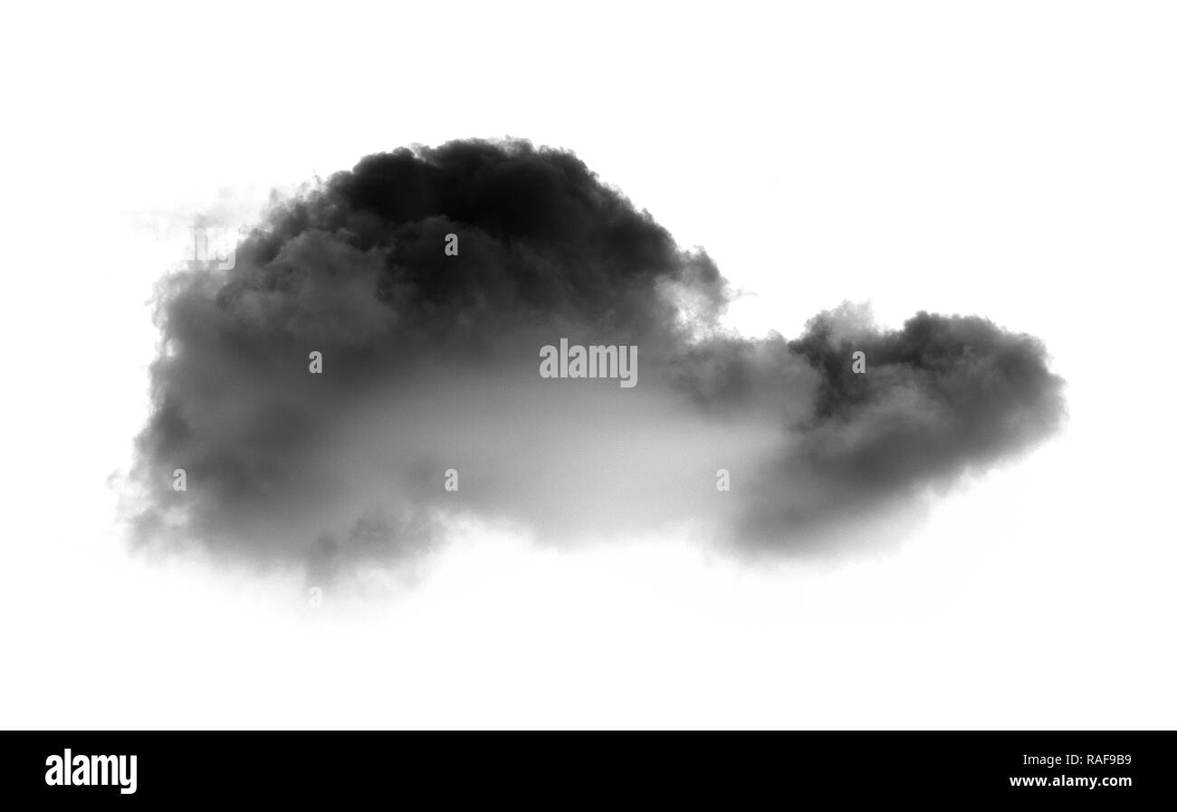 Clouds on white background - Stock Image