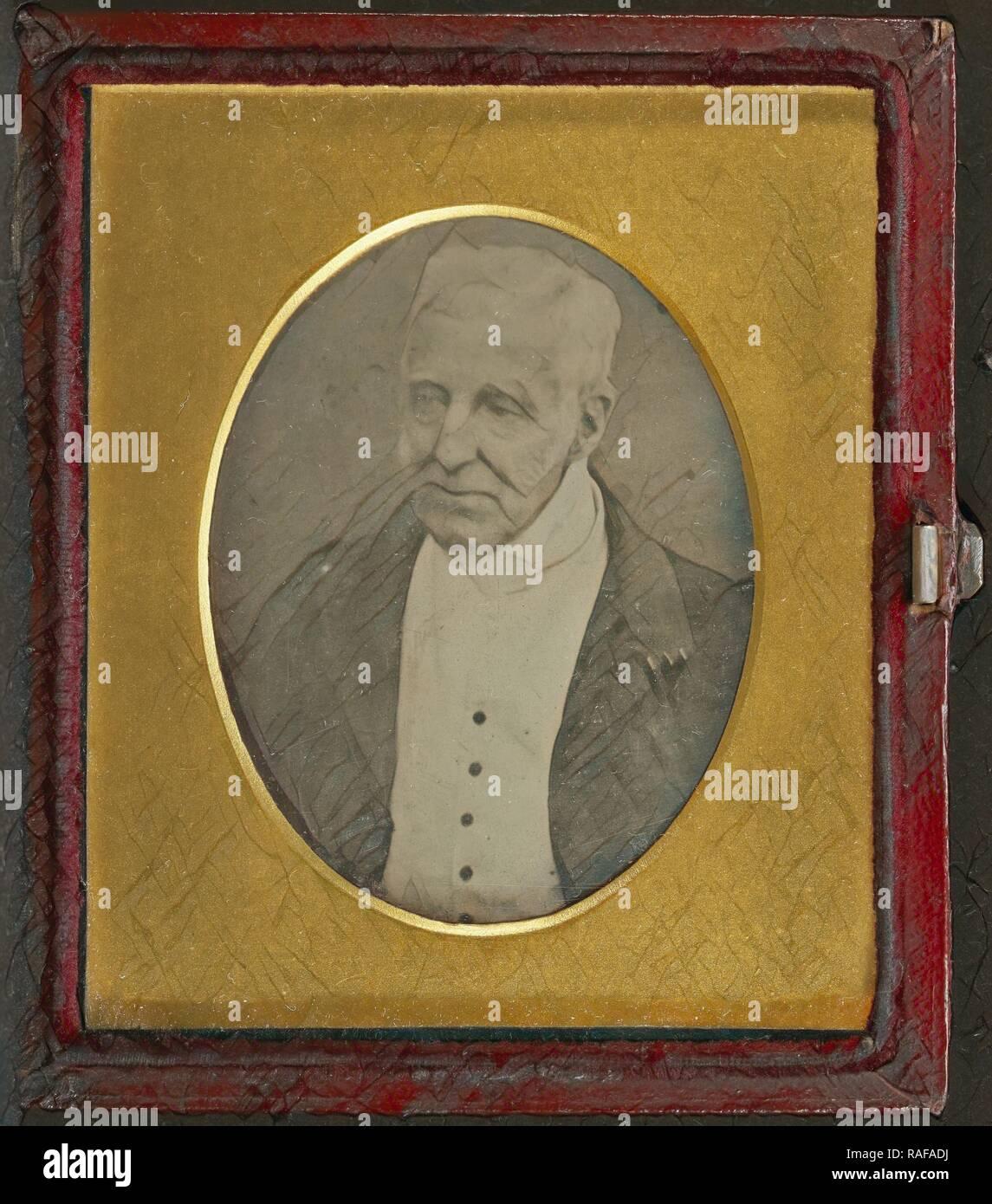 Portrait of the Duke of Wellington, Antoine Claudet (French, 1797 - 1867), May 1, 1844, Daguerreotype. Reimagined - Stock Image