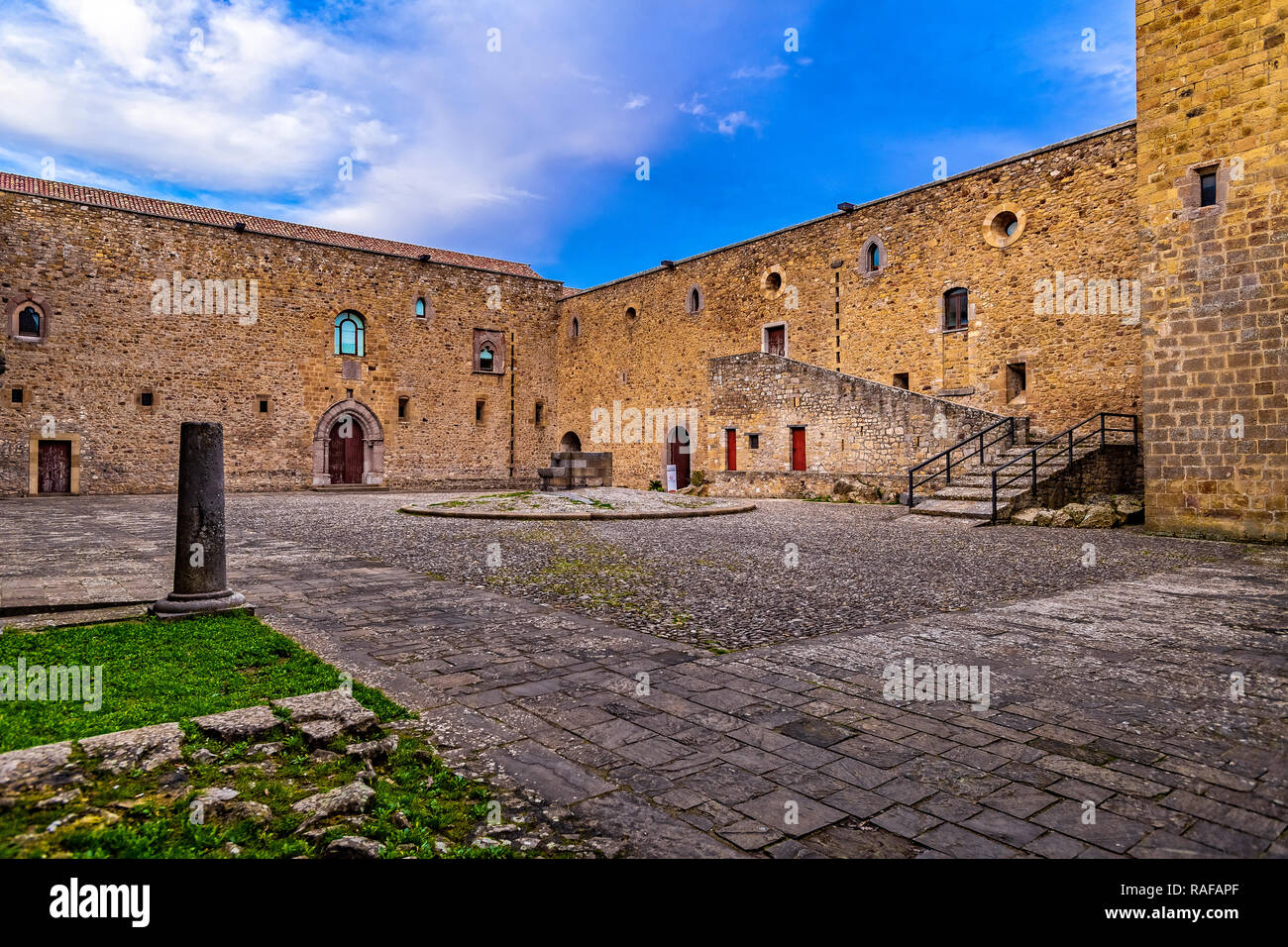 Italy Basilicata Castel Lagopesole Castle Stock Photo