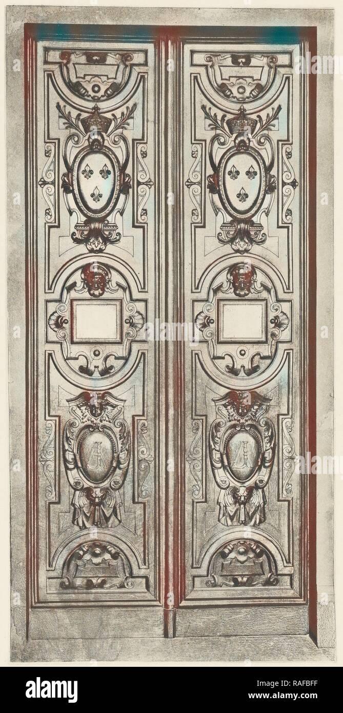 Galerie d'Apollon, Édouard Baldus (French, born Germany, 1813 - 1889), Paris, France, about 1868, Heliogravure, Sheet reimagined - Stock Image