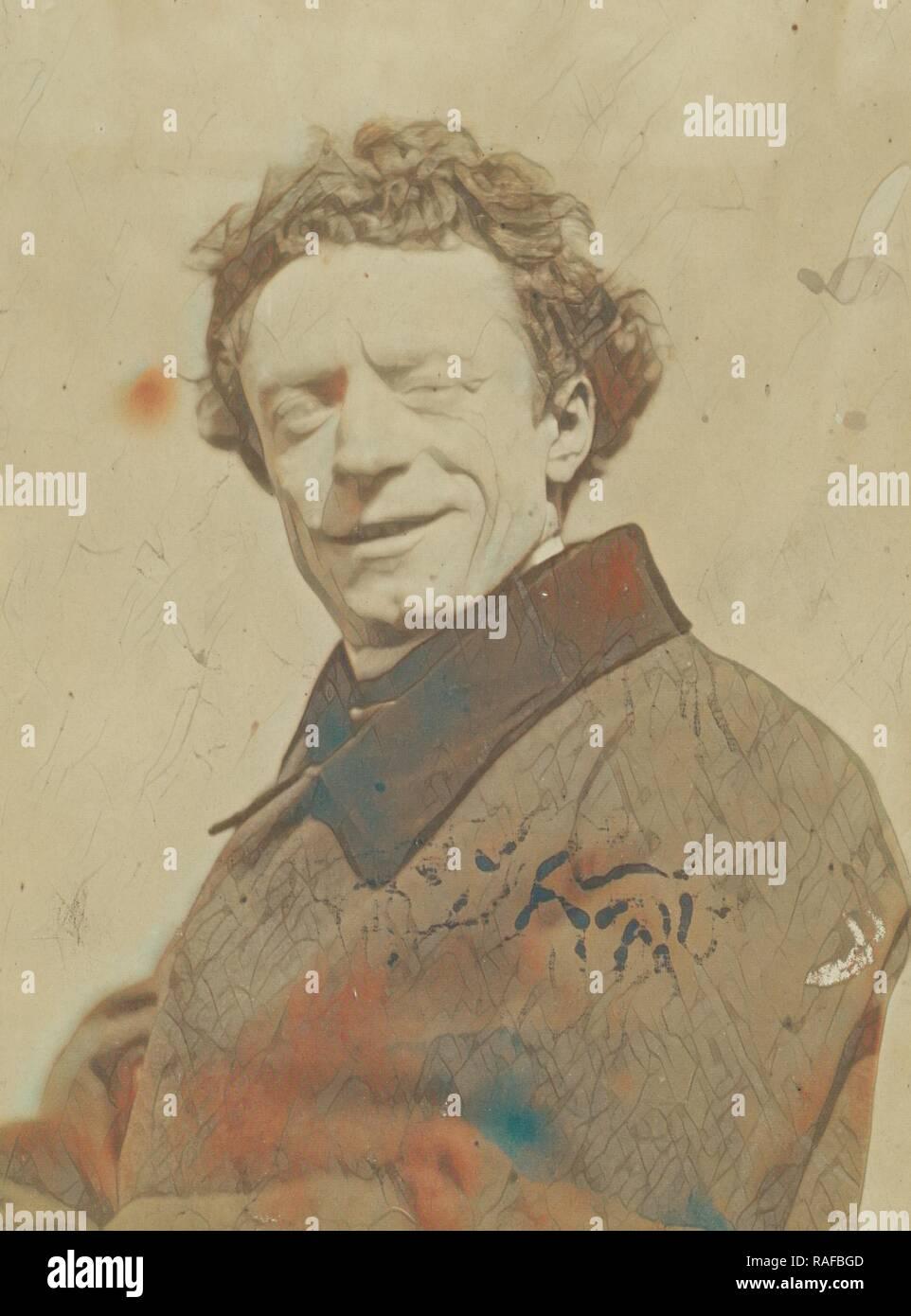 François-Louis Leseur, artiste dramatique (actor), Nadar, Gaspard Félix Tournachon (French, 1820 - 1910), 1854 - 1855 reimagined - Stock Image