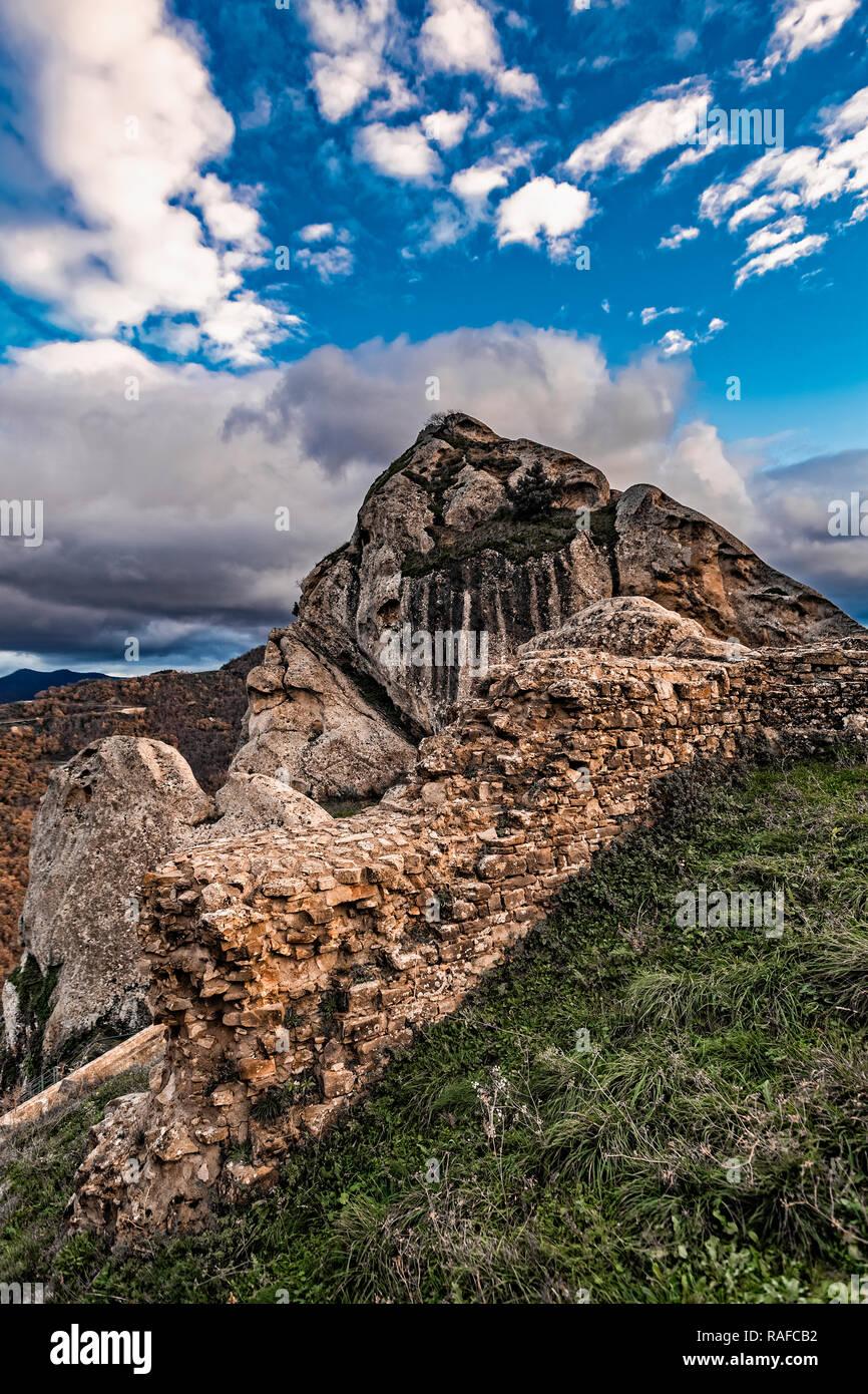 Italy Basilicata Dolomiti Lucane Castelmezzano seen from the castle Stock Photo