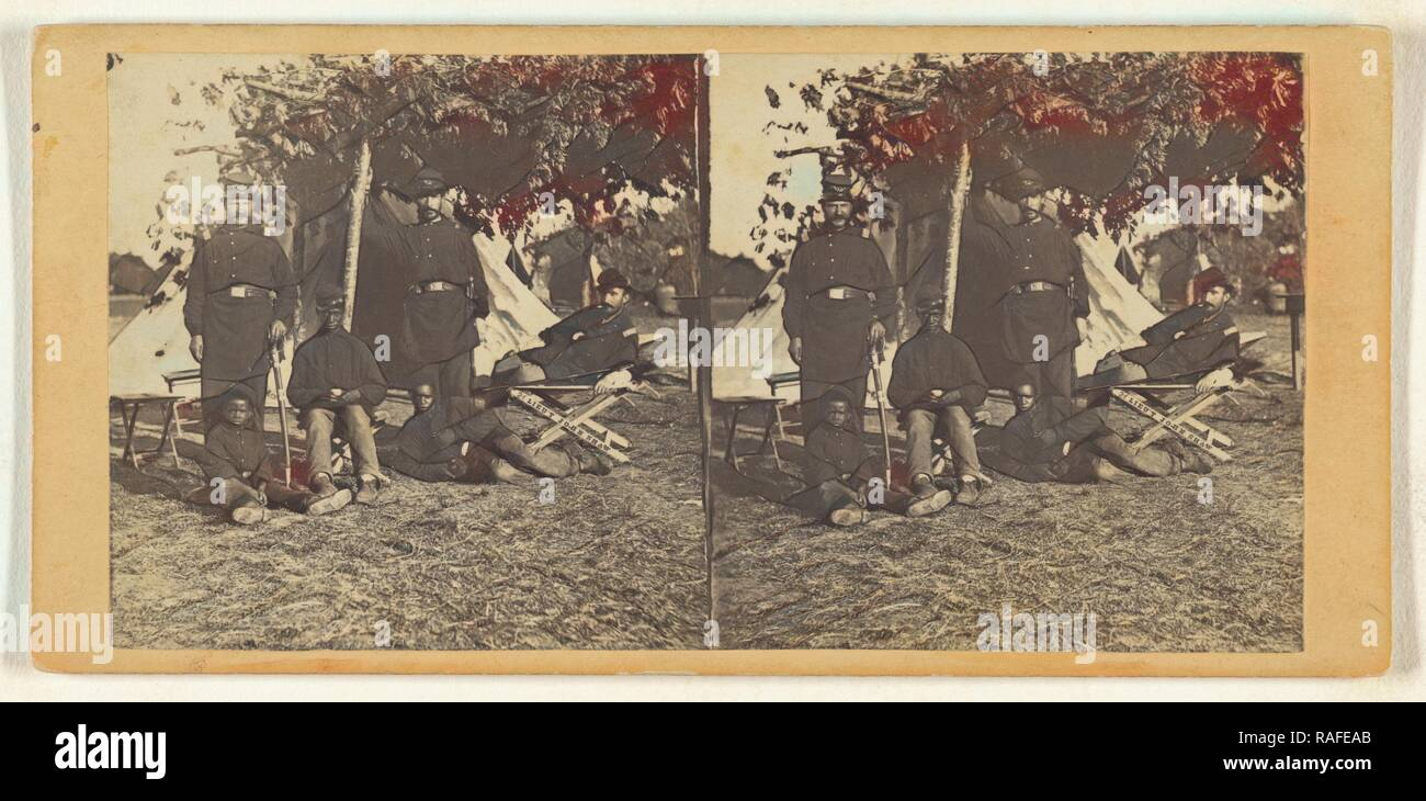 Contraband Foreground. Army of the Potomac, Edward and Henry T. Anthony & Co. (American, 1862 - 1902), about 1864 reimagined - Stock Image