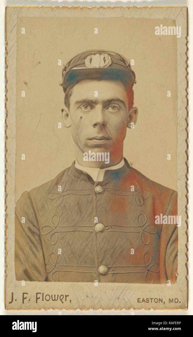 soldier, nineteen years old, J. F. Flower (American, active 1890s), September 1891, Albumen silver print. Reimagined - Stock Image