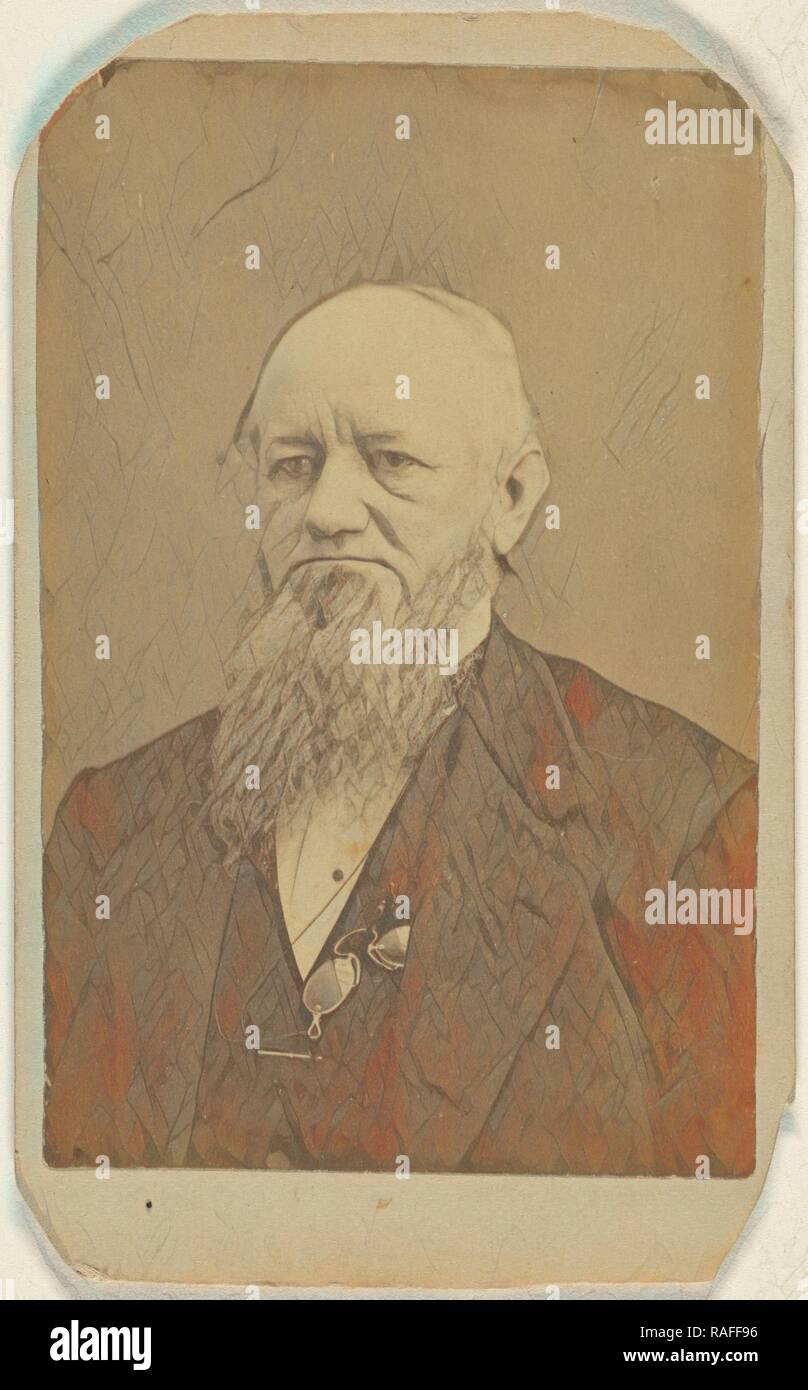 older man with a long beard, a pince-nez around his neck, Peter S. Weaver (American, active Hanover, Pennsylvania reimagined Stock Photo