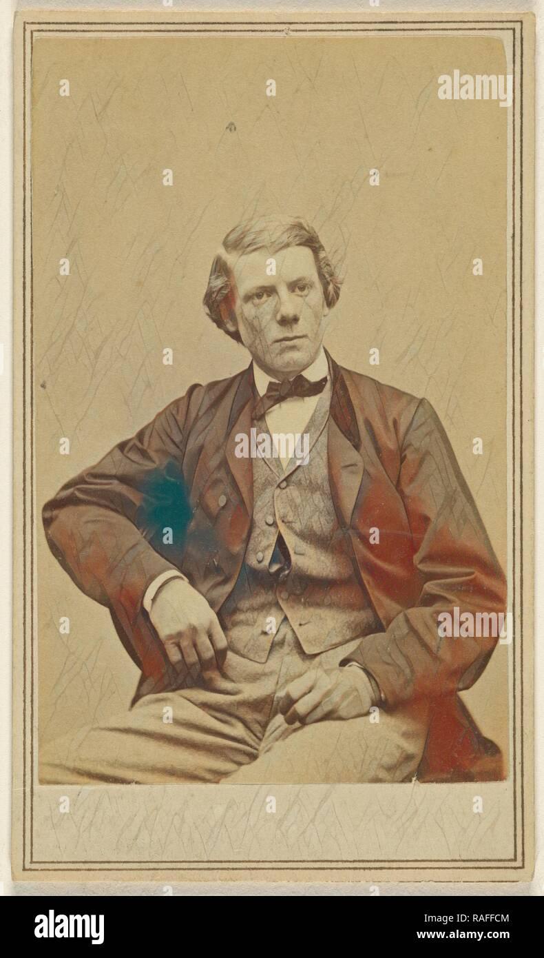 J.R. Milligan, Pittsburgh, Penna, George Kendall Warren (American, 1834 - 1884), 1865 - 1870, Albumen silver print reimagined Stock Photo