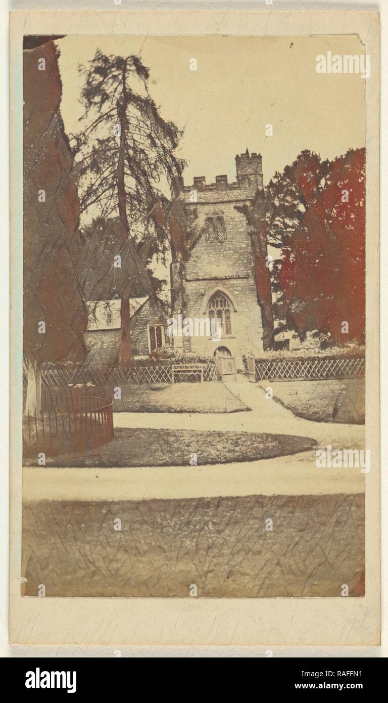Mamhead Church, William J. Chapman (English, 1830 - 1885), about 1865, Albumen silver print. Reimagined - Stock Image