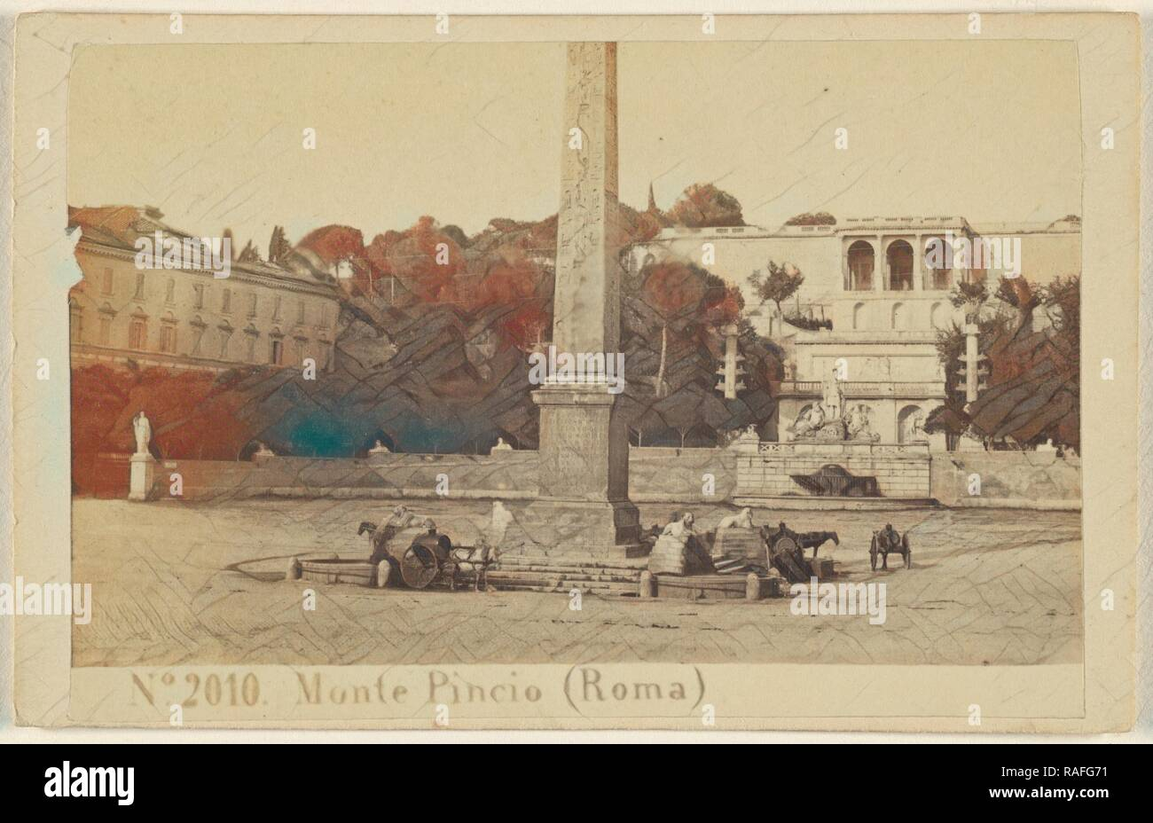 Monte Pincio (Roma), Sommer & Behles (Italian, 1867 - 1874), 1870 - 1875, Albumen silver print. Reimagined - Stock Image