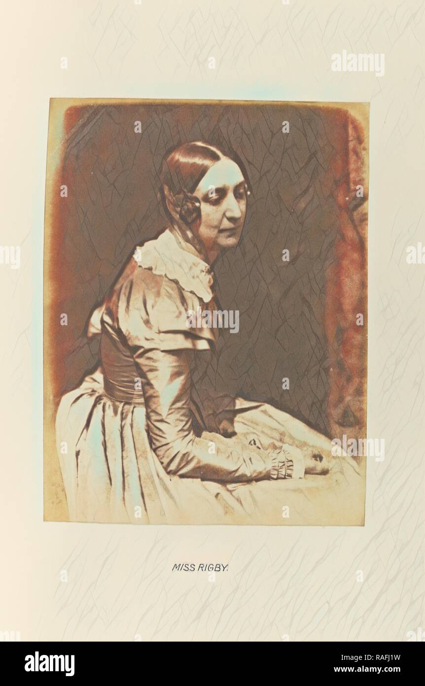 Miss Rigby (Lady Eastlake), Hill & Adamson (Scottish, active 1843 - 1848), Scotland, 1843 - 1848, Salted paper print reimagined Stock Photo