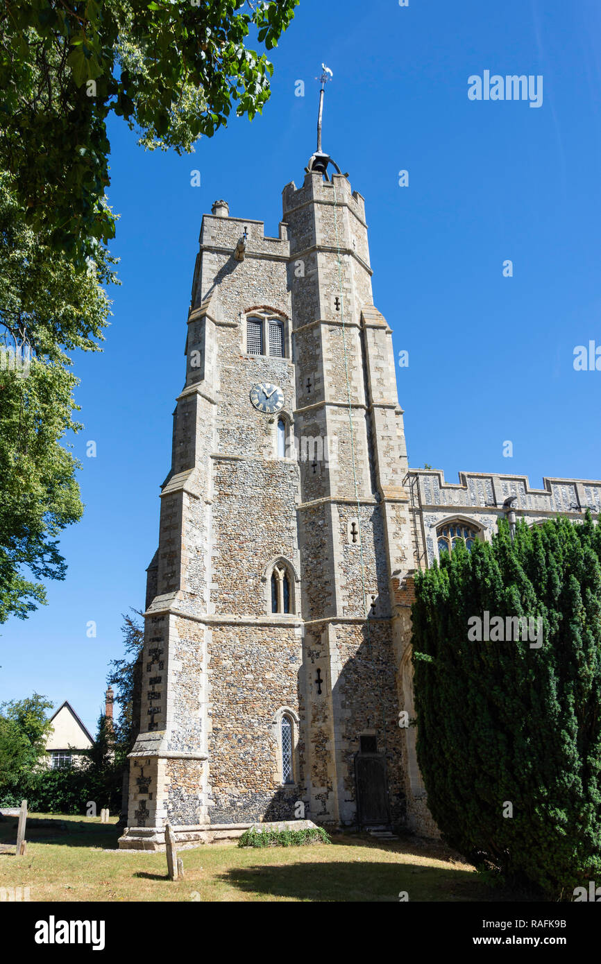 St Mary the Virgin Church, The Green, Cavendish, Suffolk, England, United Kingdom - Stock Image