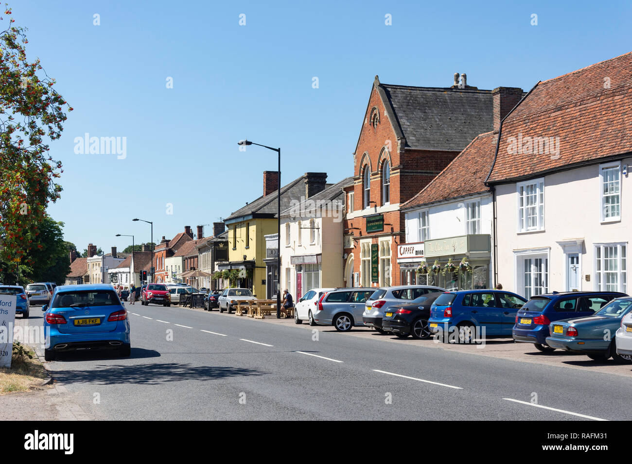 Hall Street, Long Melford, Suffolk, England, United Kingdom - Stock Image