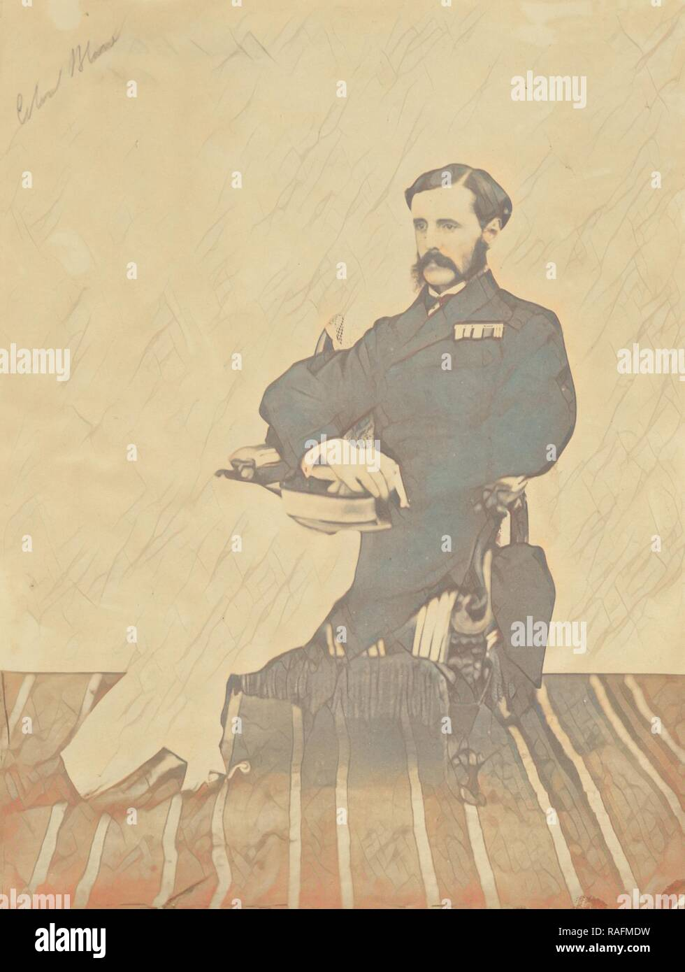 Colonel Seymour Blane, A.D.C, India, 1858 - 1869, Albumen silver print. Reimagined by Gibon. Classic art with a reimagined - Stock Image
