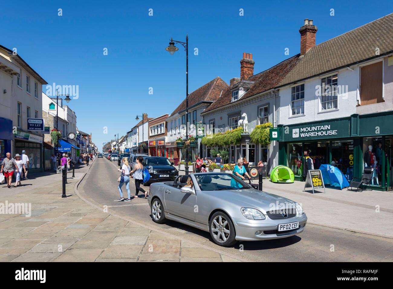 North Street, Sudbury, Suffolk, England, United Kingdom - Stock Image