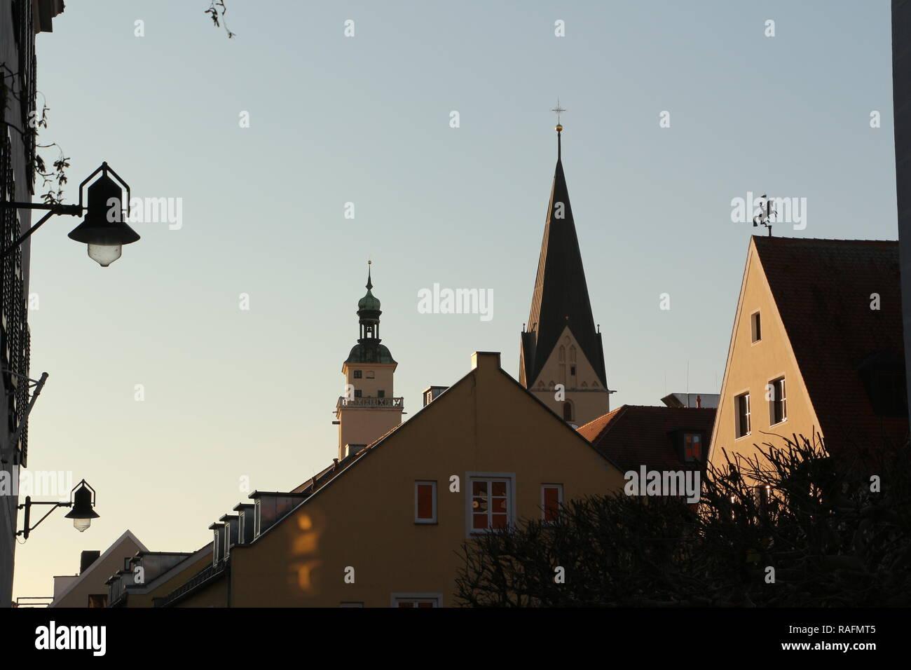 Historische Gebäude im Zentrum von Ingolstadt - Stock Image