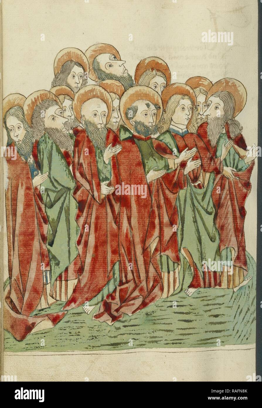 The Twelve Apostles, Follower of Hans Schilling (German, active 1459 - 1467), from the Workshop of Diebold Lauber ( reimagined - Stock Image