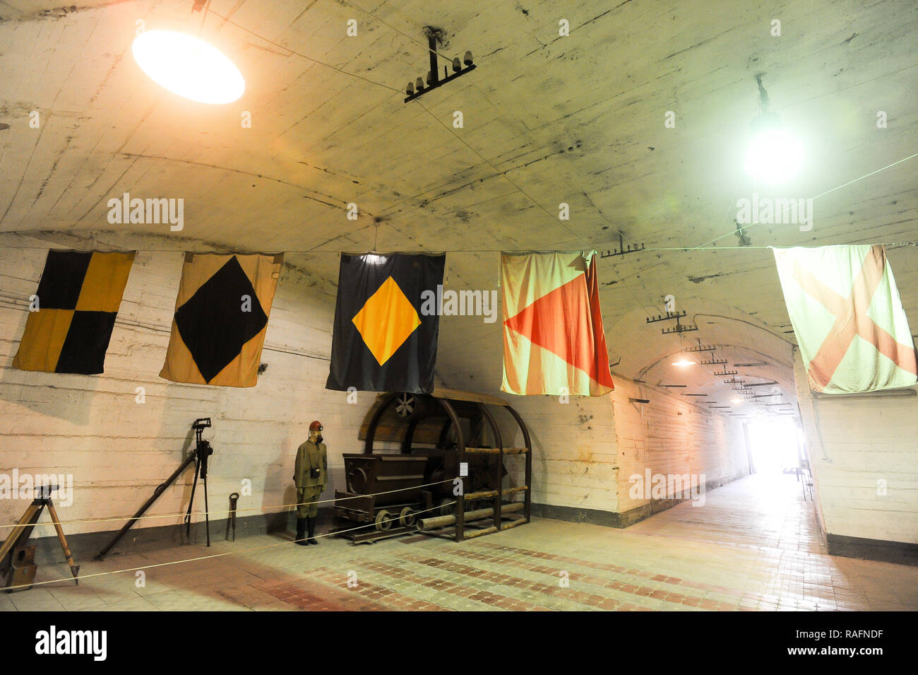 Morskij Muziejnyj Komplieks Balaklava (Naval museum complex Balaklava) in Balaklava, Crimea, Ukraine. September 30th 2008, in post Soviet classified u - Stock Image