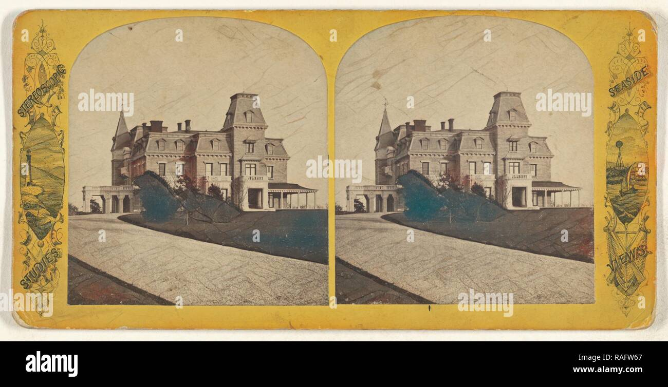 Residence of G.B. Wetmore, Esq, American, about 1870, Albumen silver print. Reimagined by Gibon. Classic art with a reimagined - Stock Image